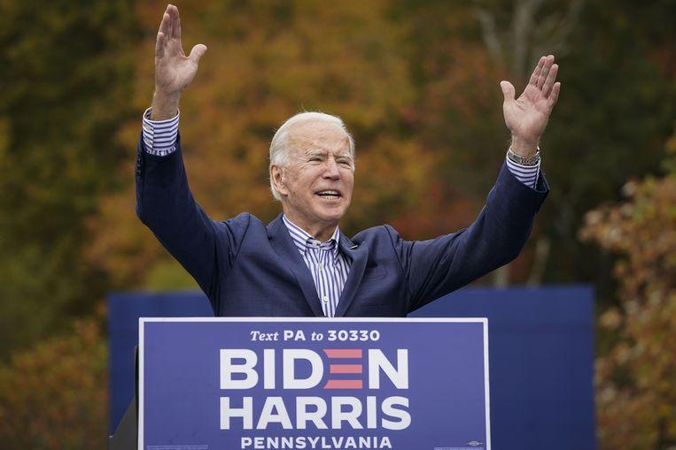 Ook Joe Biden voert volop campagne in Pennsylvania. Beeld AFP