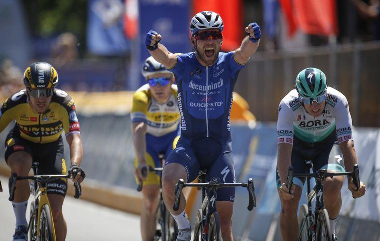 Mark Cavendish in rit 5 van de Baloise Belgium Tour. Beeld Photo News