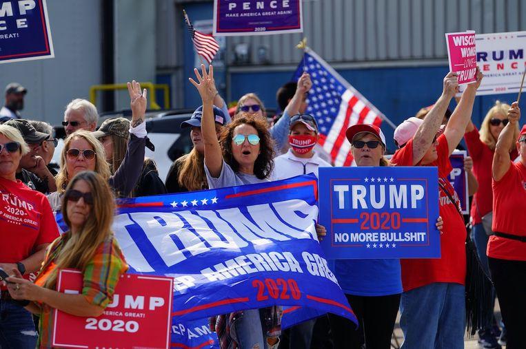 Trump-aanhangers in de Amerikaanse staat Wisconsin. Beeld Shutterstock