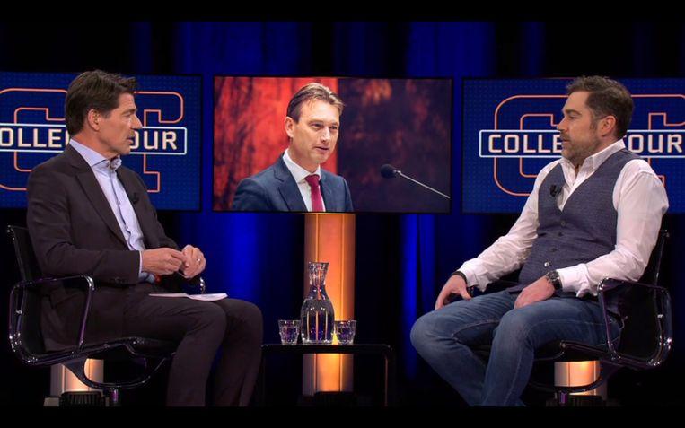 Klaas Dijkhoff blikt bij 'College Tour' terug op 'een rotweek'. Beeld Maaike Bos