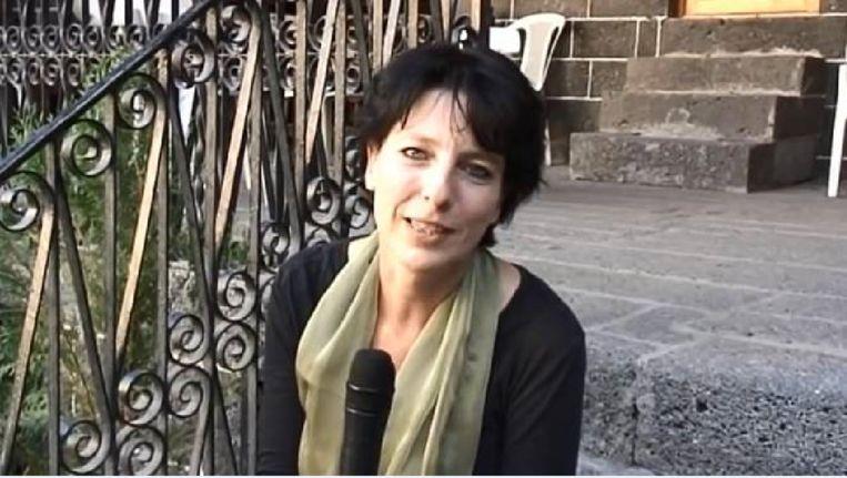 De gisteren gearresteerde Frederike Geerdink. Beeld youtube