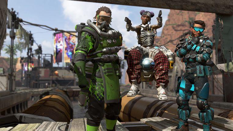 Drie typische spelers in 'Apex Legends'. Beeld Electronic Arts