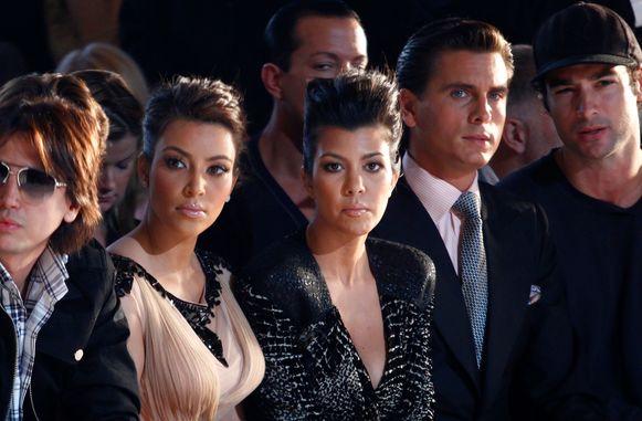 Kourtney Kardashian (midden) en Scott Disick tijdens hun relatie.