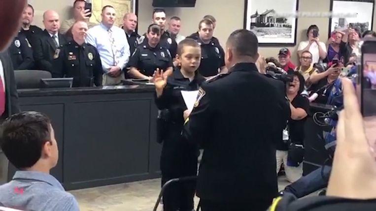 Abigail is nu officieel politieagente in de Amerikaanse staat Texas.