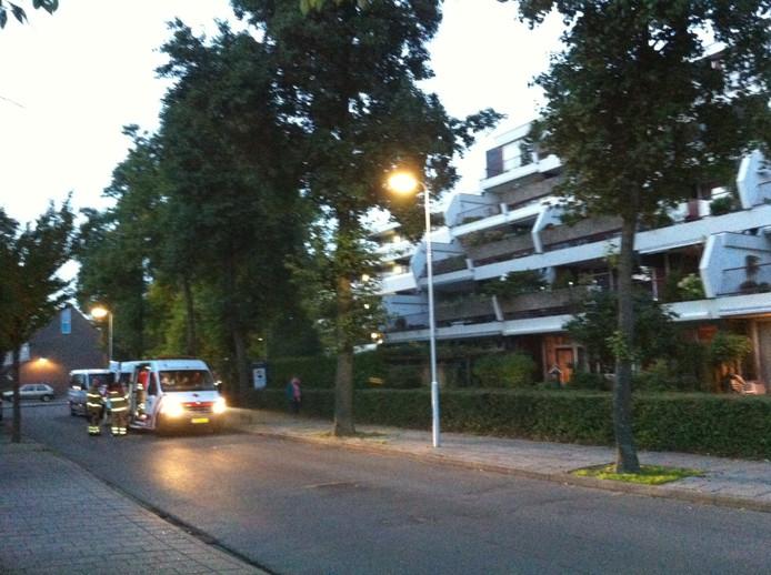 De flat in Ede waar het mosterdgas werd gevonden. Foto: DG