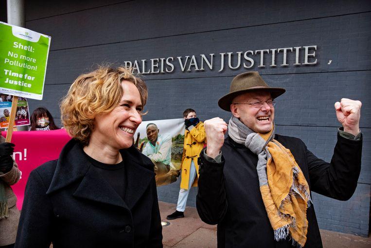 Donald Pols voor het Paleis van Justitie.  Beeld Hollandse Hoogte / Nederlandse Freelancers