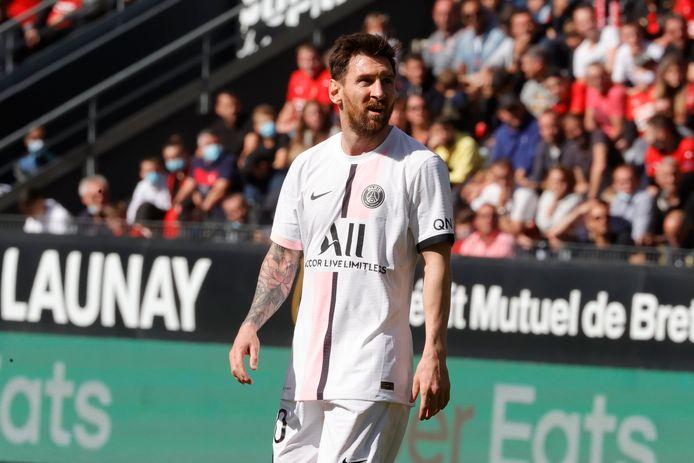 Messi lors de la défaite du PSG face à Rennes en Ligue 1.