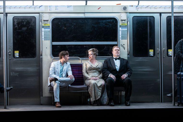 De opera Tristan en Isolde op het operafestival in Aix-en-Provence, in de regie van Simon Stone.  Beeld Jean-Louis Fernandez