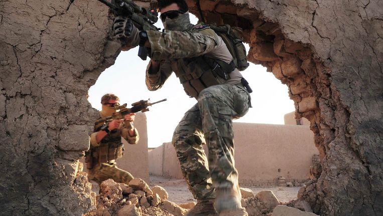 Australische troepen in actie in Afghanistan. Beeld EPA