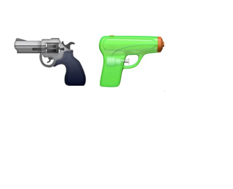De oude (L) en de nieuwe emoji. Beeld Apple