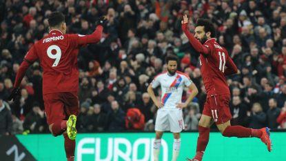 Liverpool blijft ongeslagen op Anfield na doelpuntenfestival en moeizame zege tegen stug Crystal Palace