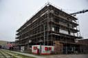 Bij het Energieplein wordt volop gebouwd aan appartementencomplex Wantijhof.