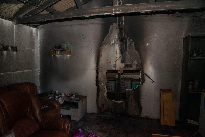 De brand veroorzaakte vooral rook en waterschade in het scoutslokaal.
