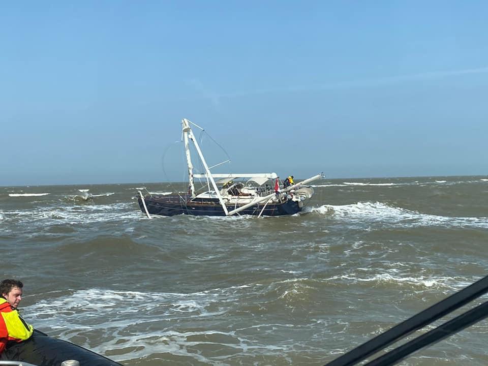 De Virgo Maris raakte zwaar beschadigd.