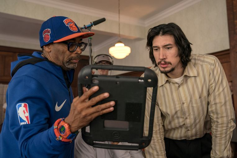 Acteur Adam Driver met regisseur Spike Lee. Beeld Getty