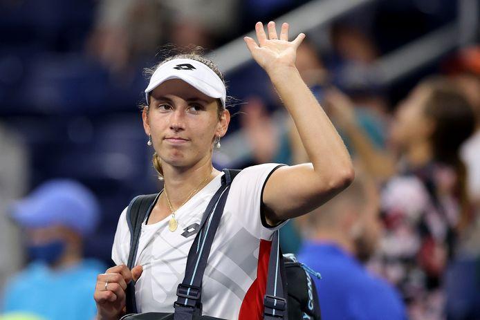 Elise Mertens  verlaat de US Open na het verlies tegen de Wit-Russische Aryna Sabalenka.