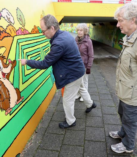 Kunst in fietstunnel Ruurlo bekrast