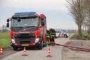 De brandweer moest uitrukken om de brand te blussen.