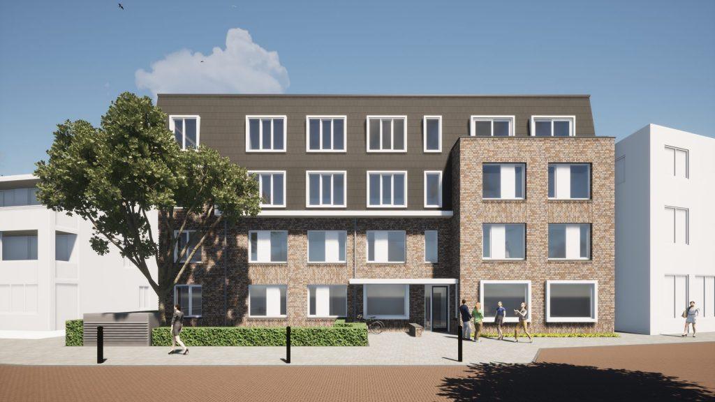 Impressie van de nieuwbouw aan de Dorpsstraat