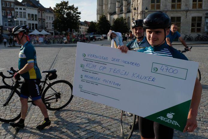 Toon Pellegrims was bijzonder blij met de opbrengst van zijn Ronde rond België.