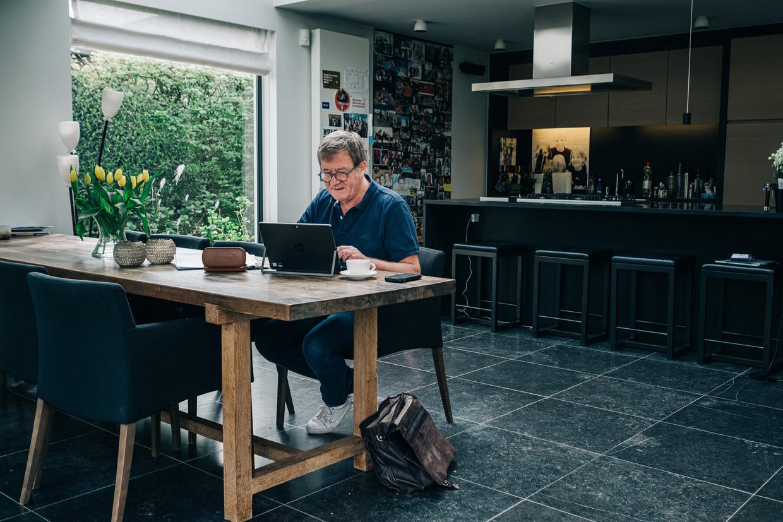 Torfs-CEO Wouter Torfs werkt van thuis.