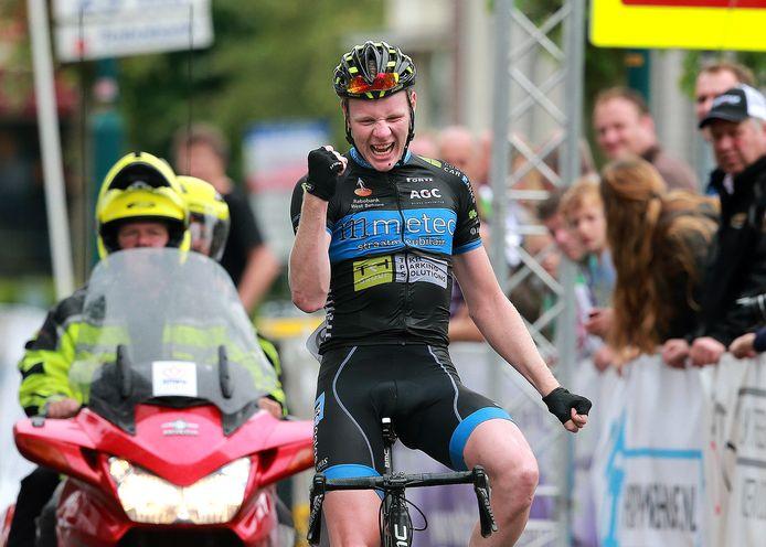Tijmen Eising, als winnaar van de GP van Lichtenvoorde.