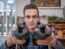 Schaatser Arjen van Damme uit Yerseke is een talentvolle eenling in het B-peloton