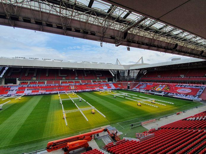Aanblik van het Philips Stadion.