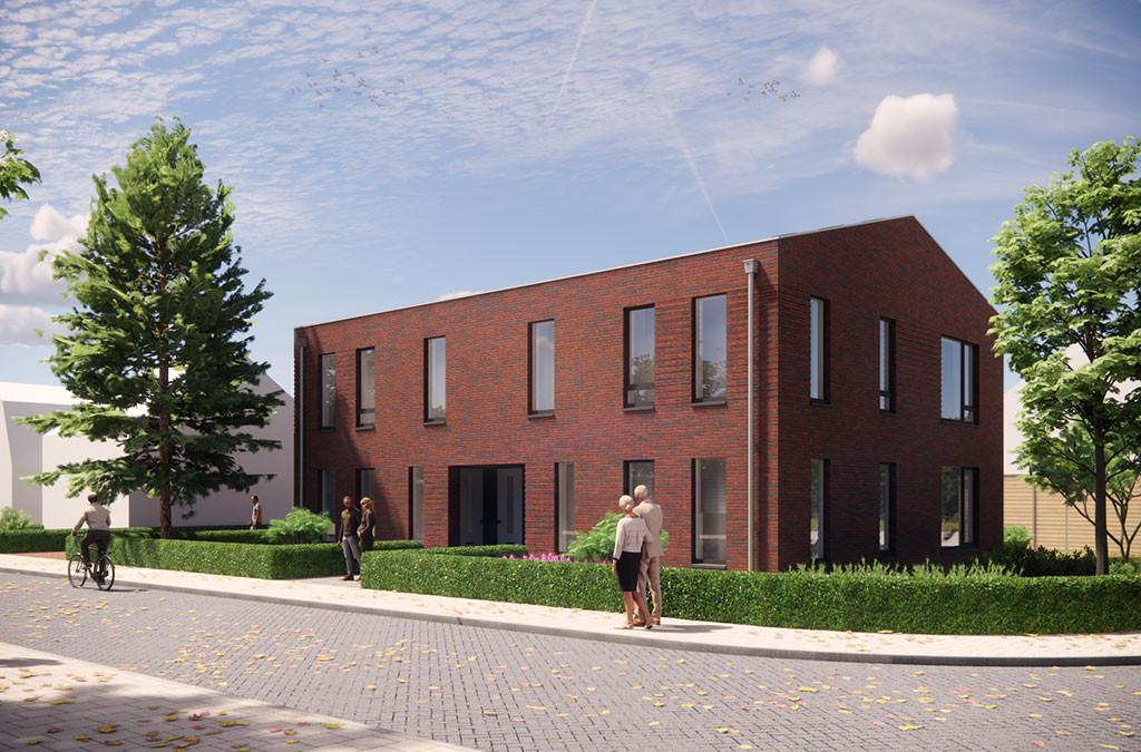 Impressie van de appartementen op hoek Beeksestraat/Pater Rommelaan in Prinsenbeek, waar nu nog de vervallen boerderij staat.