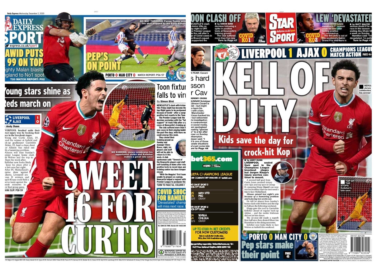 Covers van The Daily Express en The Daily Star