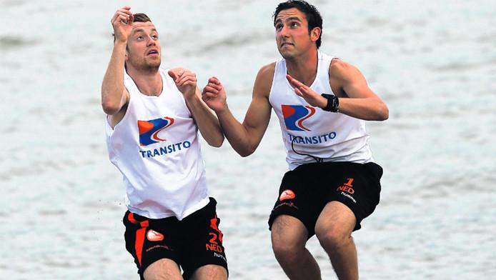 Jesse van Oord en Antonio Aurino (rechts) bereiden zich onder Hollandse omstandigheden voor op Rio de Janeiro.