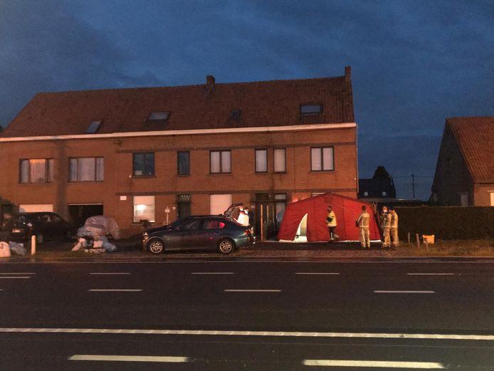 Het parket was tot na middernacht bezig op de plaats delict.