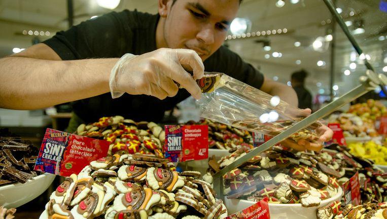 Snoepgoed van de Sint bij een filiaal van V&D. Beeld anp