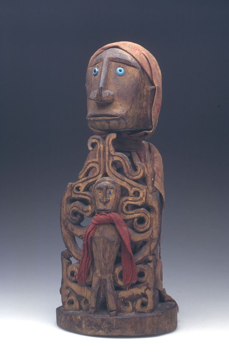 Voorouderbeeldje van Papoea's. Beeld Museum van Wereldculturen