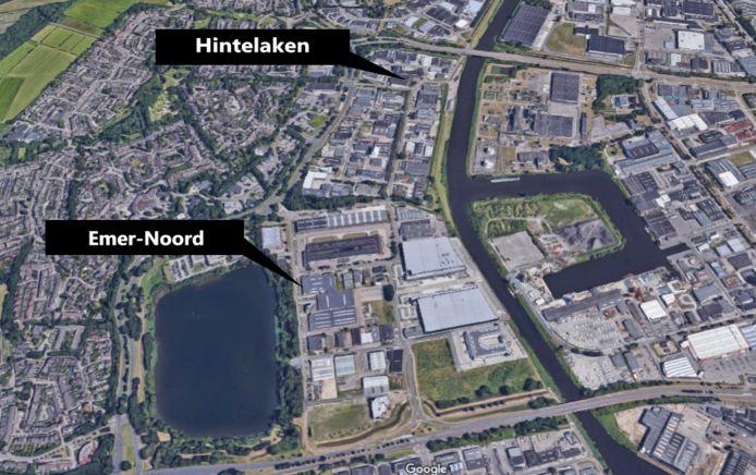 De bedrijventerreinen Hintelaken en Emer-Noord in Breda.