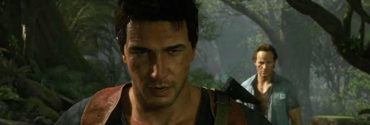 Nathan Drake in 'Uncharted 4'. Beeld sony playstation