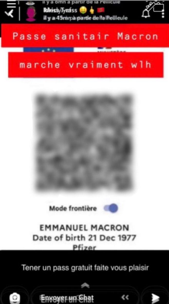 Le pass santaire d'Emmanuel Macron a fuité sur les réseaux sociaux.