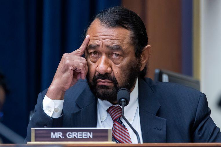 Al Green diende voor de derde keer een resolutie in om de Amerikaanse president Trump te laten afzetten. De motie werd verworpen. Beeld EPA