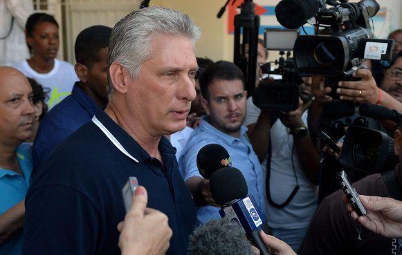Cubaanse president Miguel Díaz-Canel