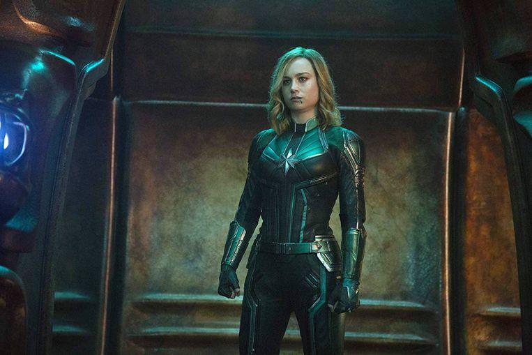 'Captain Marvel' is Marvels eerste film ooit met een vrouwelijke superheldin in de hoofdrol.  Beeld Photo News
