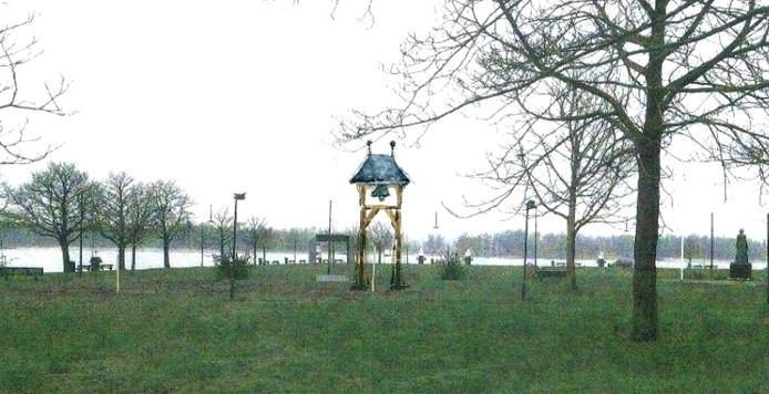 Een impressie van de klokkenstoel Buiten de Waterpoort.