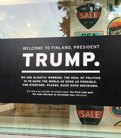 Trump met bijtende kritiek onthaald in Finland (maar Melania krijgt wel korting)