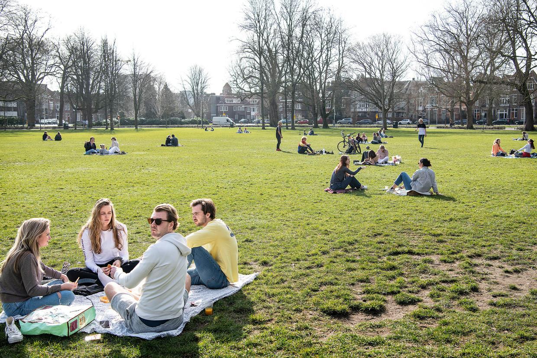 Het Wilhelminapark in Utrecht donderdag. Beeld Guus Dubbelman / de Volkskrant