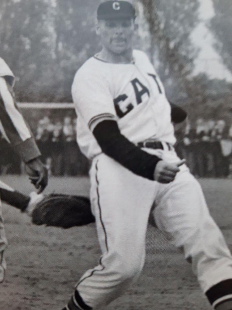Han Urbanus in het tenue van de Giants. Beeld prive