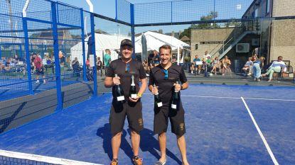 Acteur Andy Peelman en Siegried Meyers winnen spannend zomers padeltornooi TC Merelbeke