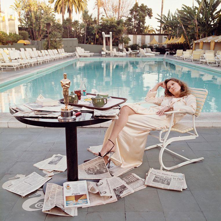 Faye Dunaway in Los Angeles in 1977.