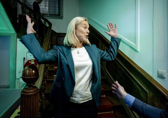 Sigrid Kaag na de overwinning voor D66.