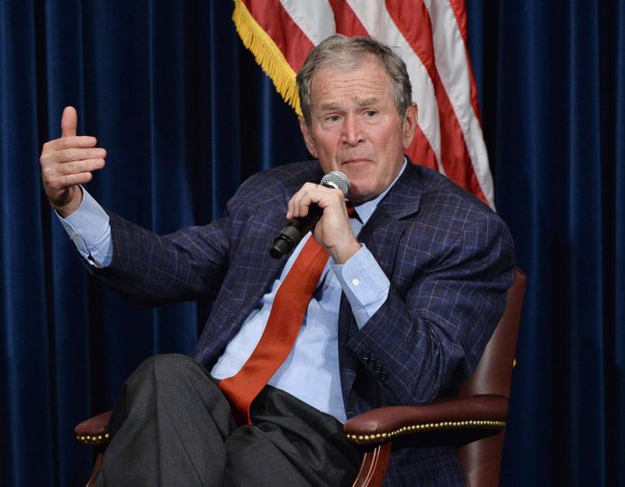 L'ancien président américain George W. Bush s'est invité dans le débat houleux sur l'immigration.      PICTURE NOT INCLUDED IN THE CONTRACT.  ! Only BELGIUM !