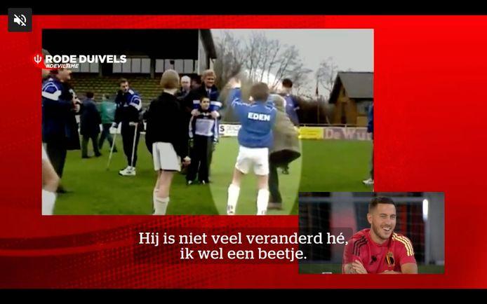 Kleine Eden Hazard ontmoet Jean-Marie Pfaff