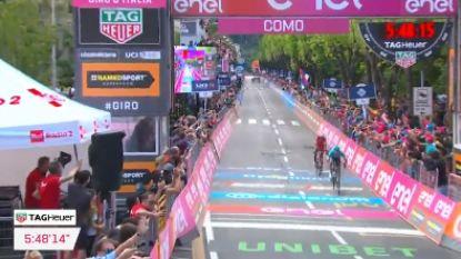 VIDEO. Bekijk hier de laatste kilometer van de vijftiende Giro-rit